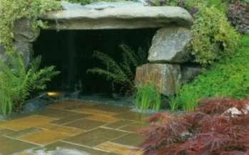 Как построить пещеру в саду
